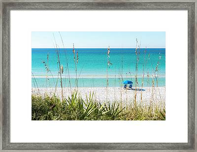 Front Row Seats On The Beach Framed Print