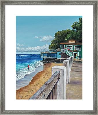 Framed Print featuring the painting Front Street Lahaina by Darice Machel McGuire