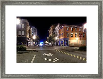 Front Street In Wilmington North Carolina Framed Print