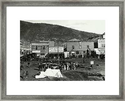 Front Street Of Dawson City Framed Print by Photo Researchers