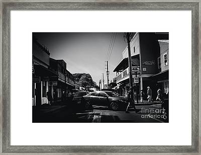 Framed Print featuring the photograph Front Street  by Sharon Mau