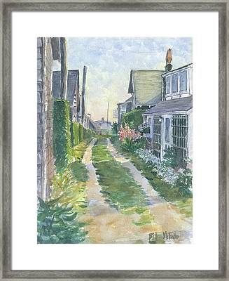 Front Street Siasconset Nantucket Framed Print
