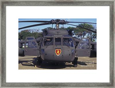 Front View Of An Army Hh-60 Pave Hawk Framed Print by Michael Wood