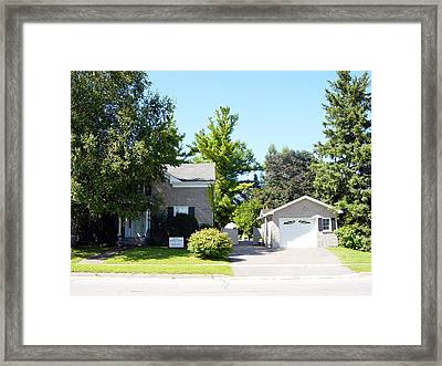 Front Yard Framed Print by Marie Dunkley
