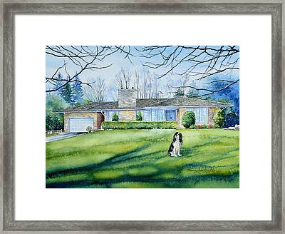 Front Yard Protection Framed Print by Hanne Lore Koehler