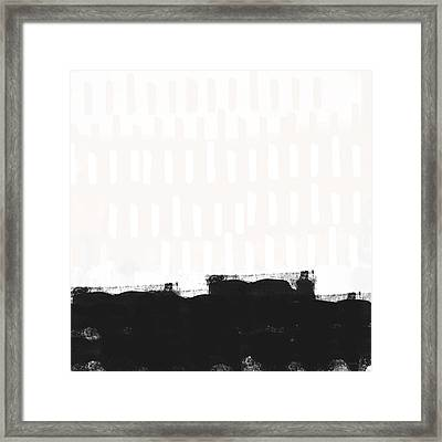 Frontier 25- Modern Abstract Art By Linda Woods Framed Print by Linda Woods