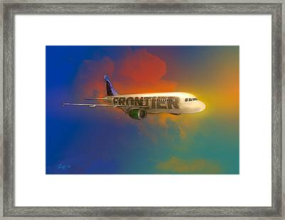 Frontier Airbus A-319 Framed Print