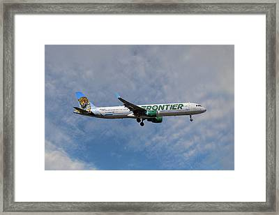 Frontier Airbus A321-211 Framed Print