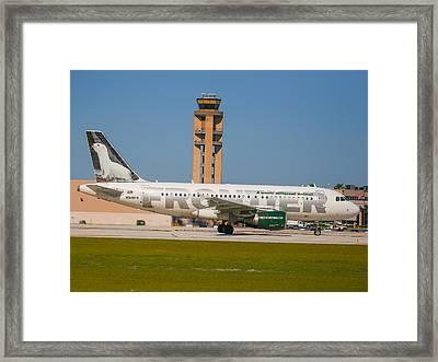 Frontier Airline Framed Print