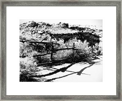 Frontier Homestead Framed Print