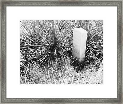Frontier Taps Framed Print