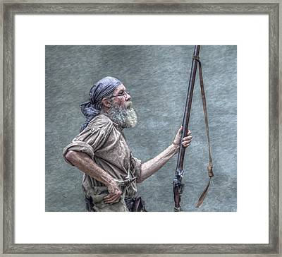 Frontiersman Face Of Time Framed Print