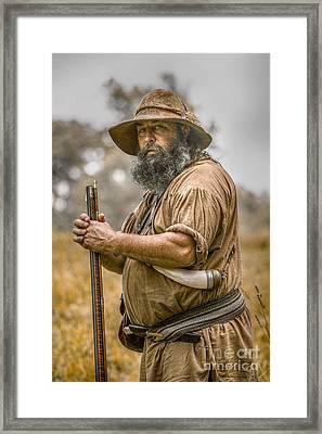 Frontiersman Portrait Framed Print by Randy Steele