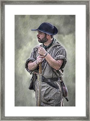Frontiersman Ranger Scout Portrait Framed Print