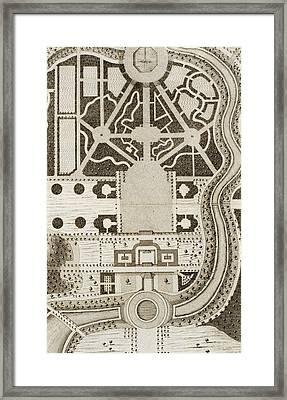 Frontispiece From Ichnographia Rustica Framed Print by English School