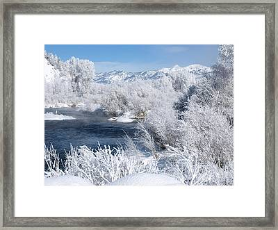 Frost Along The River Framed Print
