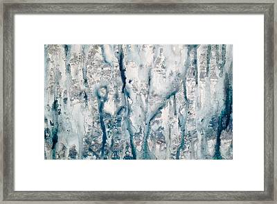 Frost And Rain On The Windows Framed Print