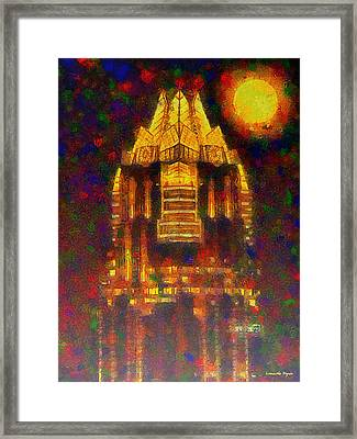 Frost Bank Austin Colorful - Pa Framed Print