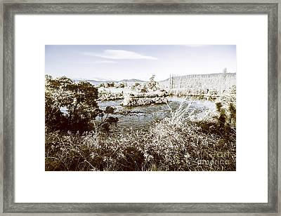 Frost Covered River Framed Print by Jorgo Photography - Wall Art Gallery