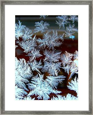 Frost Design Framed Print by Shirley Sirois