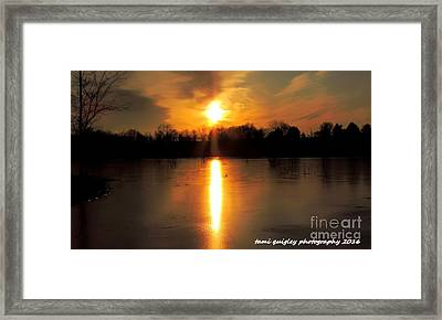 Frost Fire  Framed Print