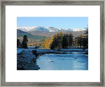 Frost In The Glen - Invercauld Framed Print