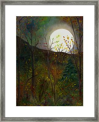 Frost Moon Framed Print
