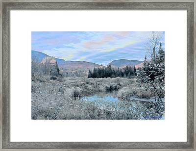 Frost On The Bogs Framed Print