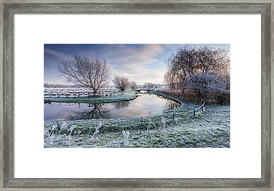 Frost On The Marshes Framed Print by George Johnson