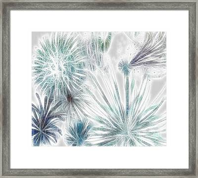 Framed Print featuring the digital art Frosted Abstract by Methune Hively