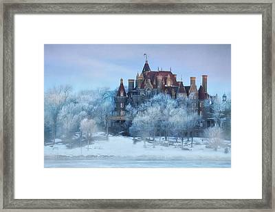 Frosted Castle Framed Print by Lori Deiter
