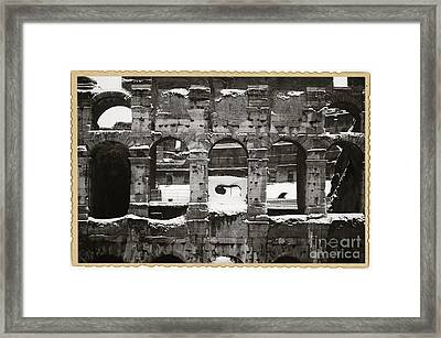Frosted Colosseum In Rome Framed Print