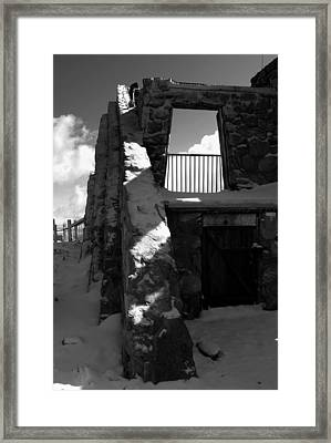 Frosted Cresthouse Framed Print by Ryan Dull