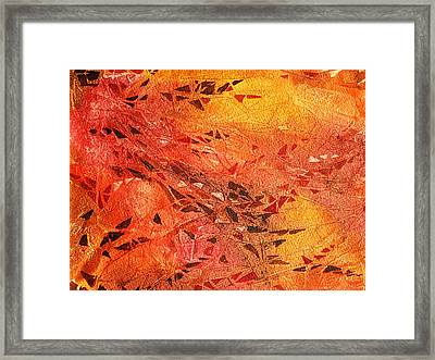 Frosted Fire I Framed Print by Irina Sztukowski