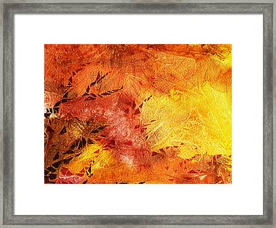 Frosted Fire II Framed Print by Irina Sztukowski