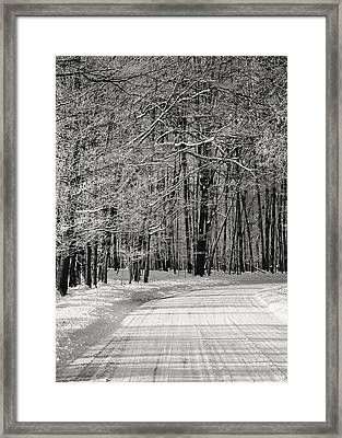 Frosted Steps Framed Print by Sarah Boyd
