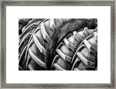 Framed Print featuring the photograph Frosted Tires by Brad Allen Fine Art