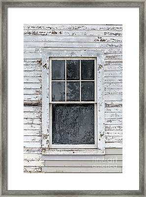 Frosted Window On An Old House Framed Print