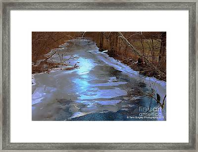 Frosting The Jordan Framed Print by Tami Quigley