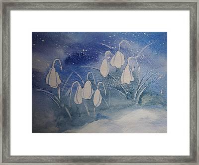 Frosty Bells Framed Print