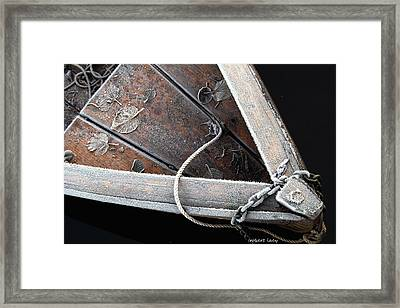 Frosty Boat Framed Print