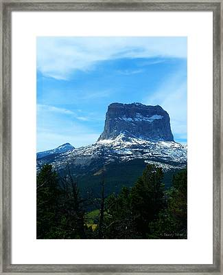 Frosty Chief Mountain Framed Print