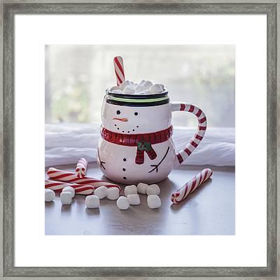 Framed Print featuring the photograph Frosty Christmas Mug by Kim Hojnacki