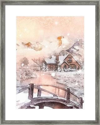 Frosty Creek Framed Print by Mo T