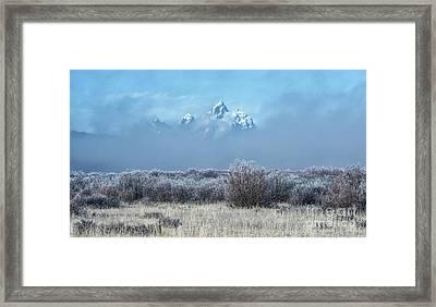 Frosty Fall Morning - Grand Teton National Park Framed Print