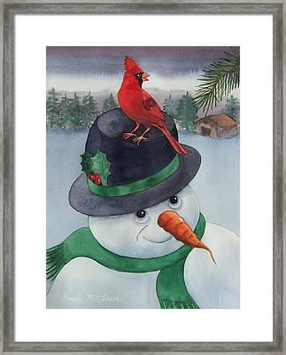 Frosty Friend Framed Print by Brad McLean