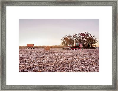 Frosty Harvest Framed Print by Todd Klassy