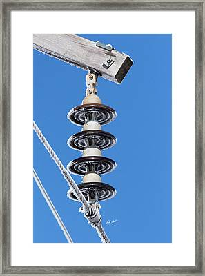 Framed Print featuring the photograph Frosty Industrial Insulator by Bill Kesler