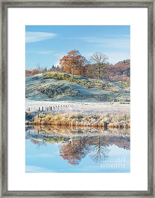 Frosty Landscape Elterwater Framed Print