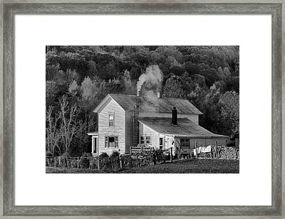 Framed Print featuring the photograph Frosty Morning by Denise Romano